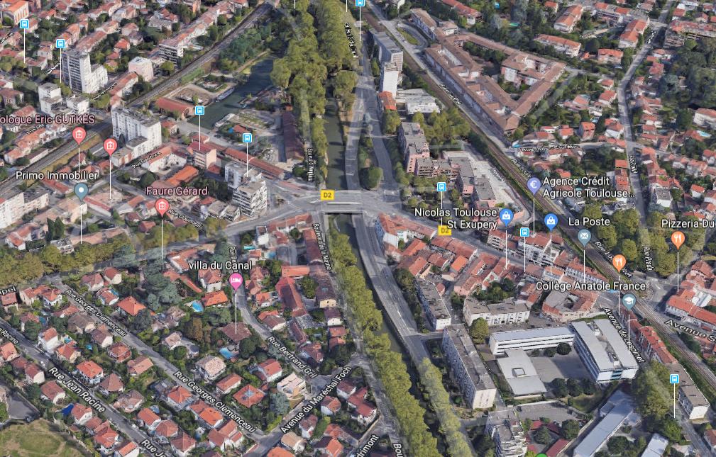 Quartier Pont des Demoiselles Toulouse