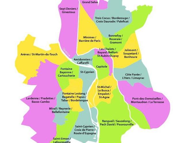 Quel quartiers investir Toulouse