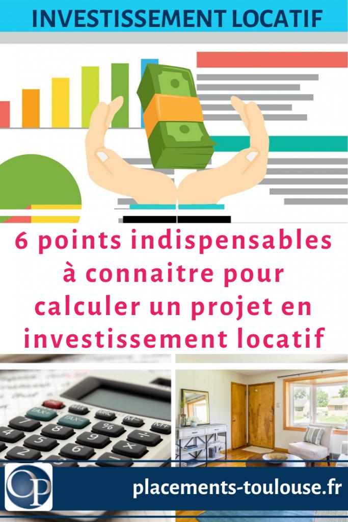calcul investissement immobilier locatif