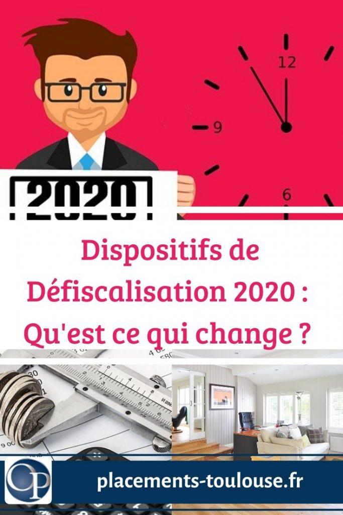 dispositifs défiscalisation 2020