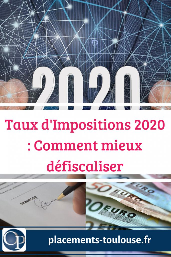 Imposition et défiscalisation 2020